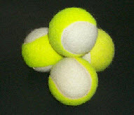 2 colour tennis balls