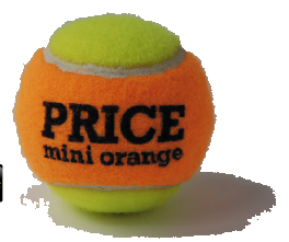 Orange Mini tennis ball,  ORANGE 65