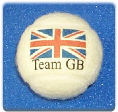 Tennis balls branded  Team GB