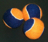 BLUE AND ORANGE 2 COLOR TENNIS BALLS
