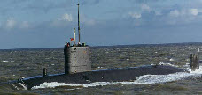Submarine, clad with Price manufactured tiles