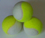 white and yellow r two colour tennis balls