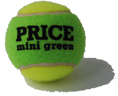 Green Mini tennis ball made by Price of Bath