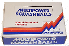 Multipower squash balls made by Price of Bath