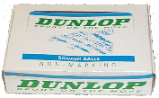 DUNLOP SQUASH BALLS ,made by Price of Bath