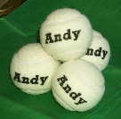 WHITE TENNIS BALLS balls personalised