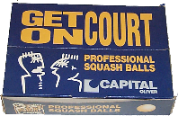 Capital squash balls,made by J Price