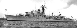 Daring class destroyer fitted with Price engine mounts