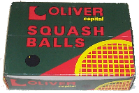 Oliver squash balls,made by Price of Bath