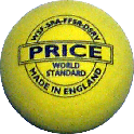 All yellow double dot squash ball