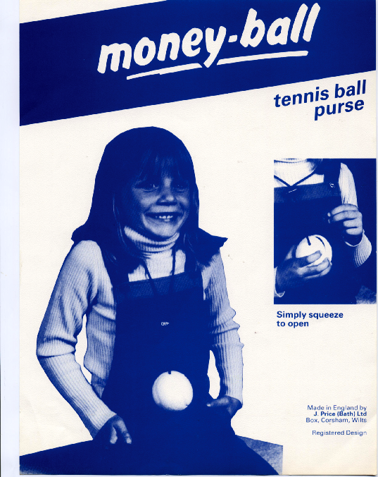 Tennis ball purse,made by Price of Bath