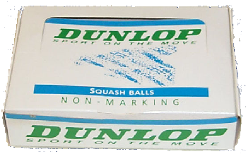 DUNLOP SQUASH BALLS  made by Price of Bath