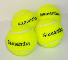 yellow tennis balls  personalised