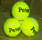 personalised  tennis balls,yellow