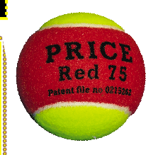 RED  minitennis balls,the Red 75 made by J Price