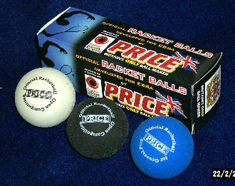 white blue black  RACKET BALLS,official,made by J Price