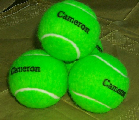 green tennis balls pesonalized