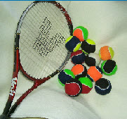mixed tennis balls  of 2 colors