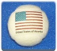Tennis balls branded with USA Flag