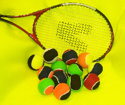 two colour tennis balls