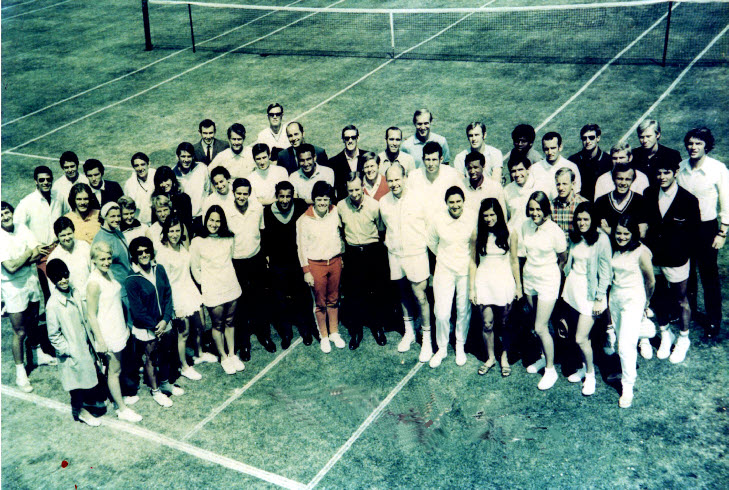 International tennis players of yester year