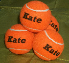 orange tennis balls personalized