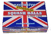 Price squash balls,made in england