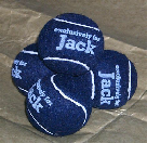 blue tennis balls personalised