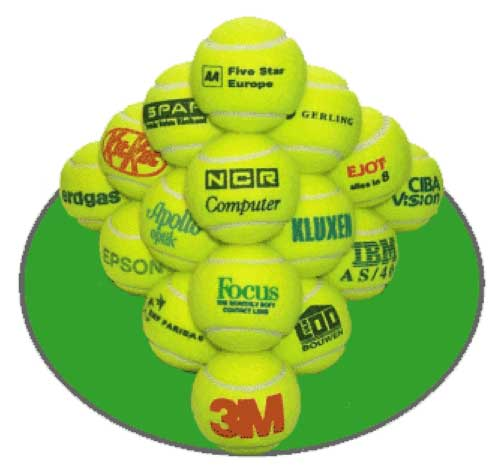 tennis balls,promotional, corporate branded