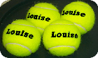 tennis balls personalised