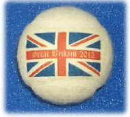 Tennis balls branded with Union Jacks