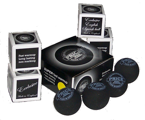 Quality English squash balls, made in Britain 4 ball pack